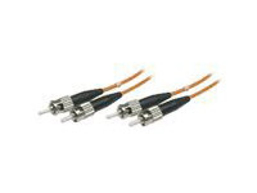 Deltaco Fiberoptisk kabel ST/UPC ST/UPC OM1 1m