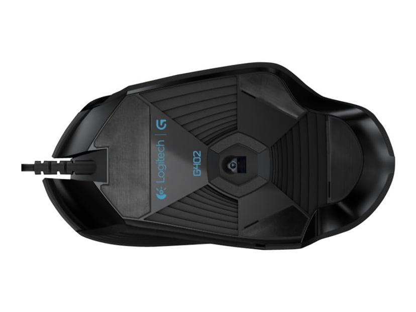 Logitech Hyperion Fury G402 Svart Mus Kablet 4,000dpi
