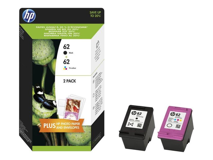 HP Blekk Multipack No.62 (Black/Color)