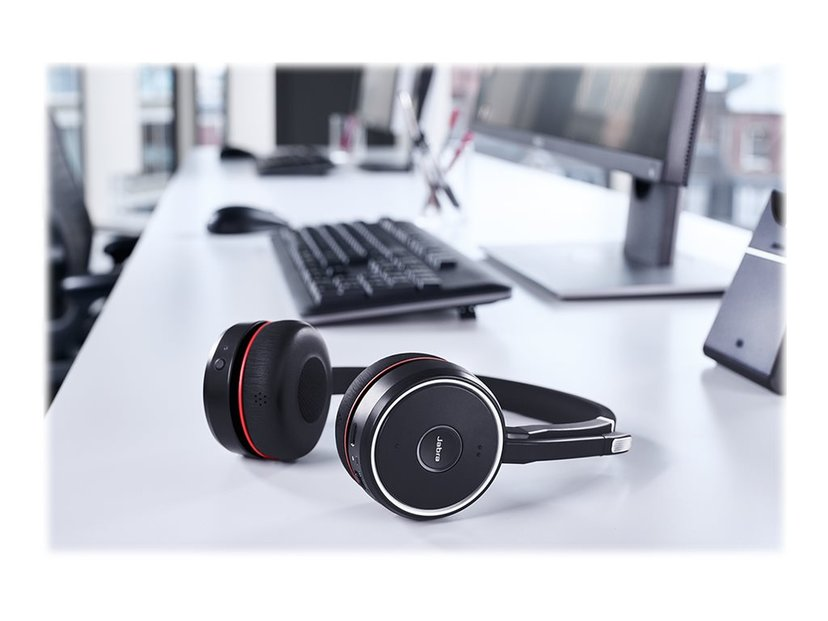 Jabra Evolve 75 Stereo MS Headset Musta