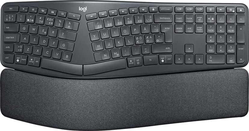 Logitech Ergo K860 Trådløs Tastatur Svart