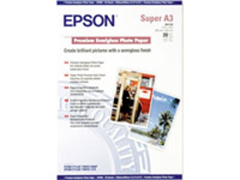Epson Papper Photo Premium Semi Glossy A3+ 20-ark 250G