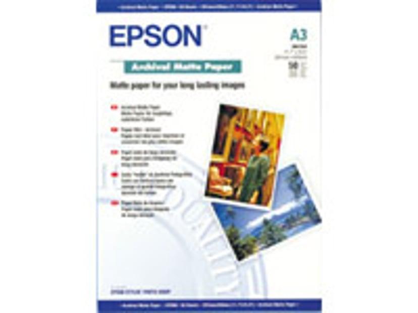 Epson Papir Archival Matt A3 50-ark 192G