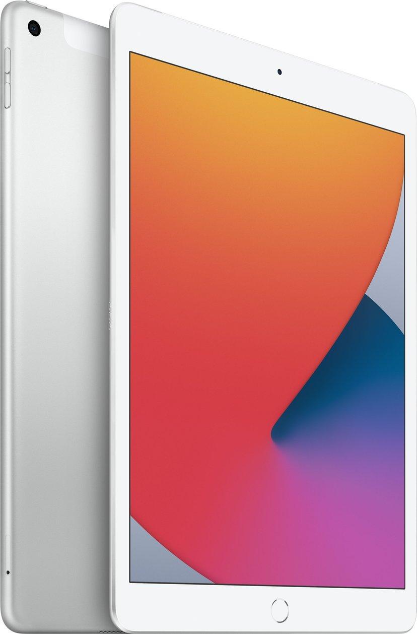 """Apple iPad 8th gen (2020) Wi-Fi + Cellular 10.2"""" A12 Bionic 128GB Sølv"""