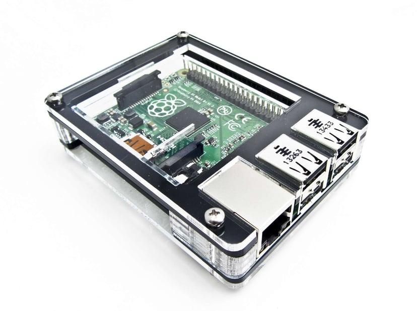 C4 Labs Zebra Case for Raspberry Pi 2/B+ - Black Ice