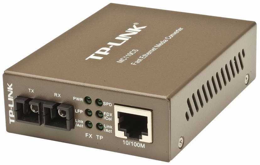 TP-Link MC110CS Fibermediekonverterare RJ-45 SC enkelläge