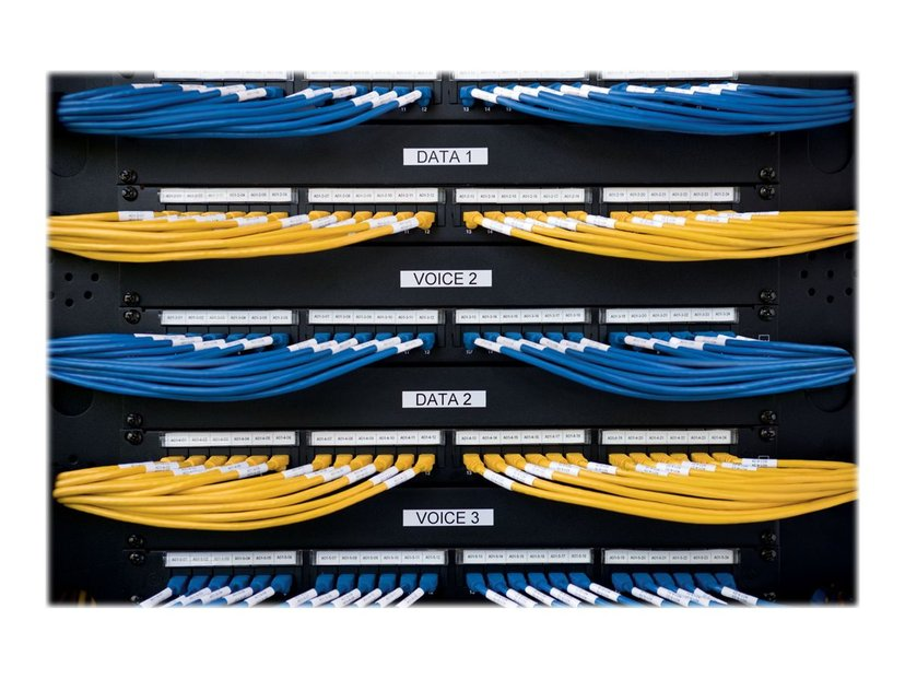Dymo Tape Kabel Flexible 24mm Svart/Vit - XTL