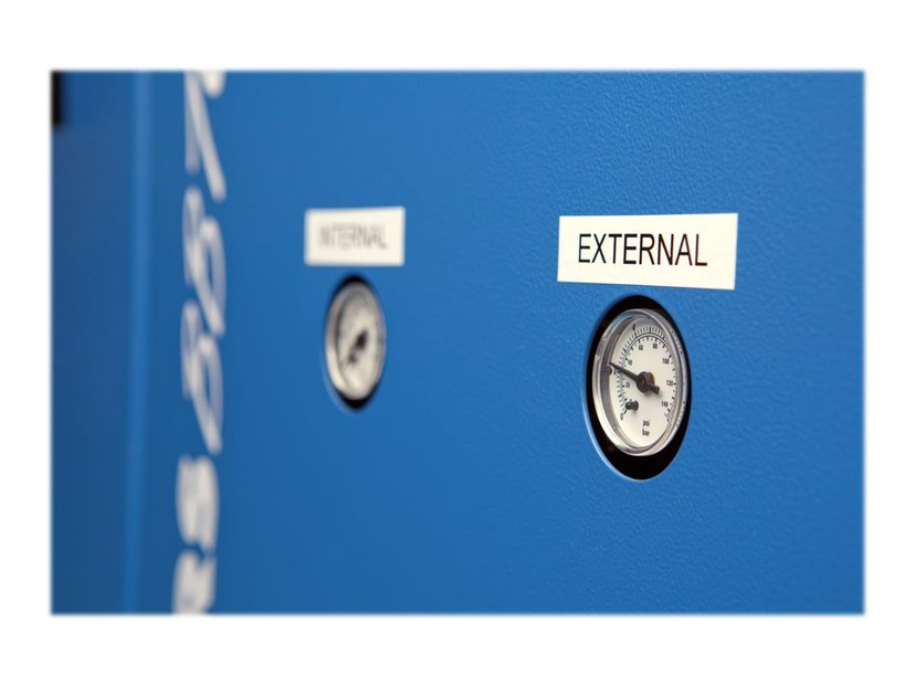 Dymo Tape Permanent Polyester 12mm Svart/Vit - XTL