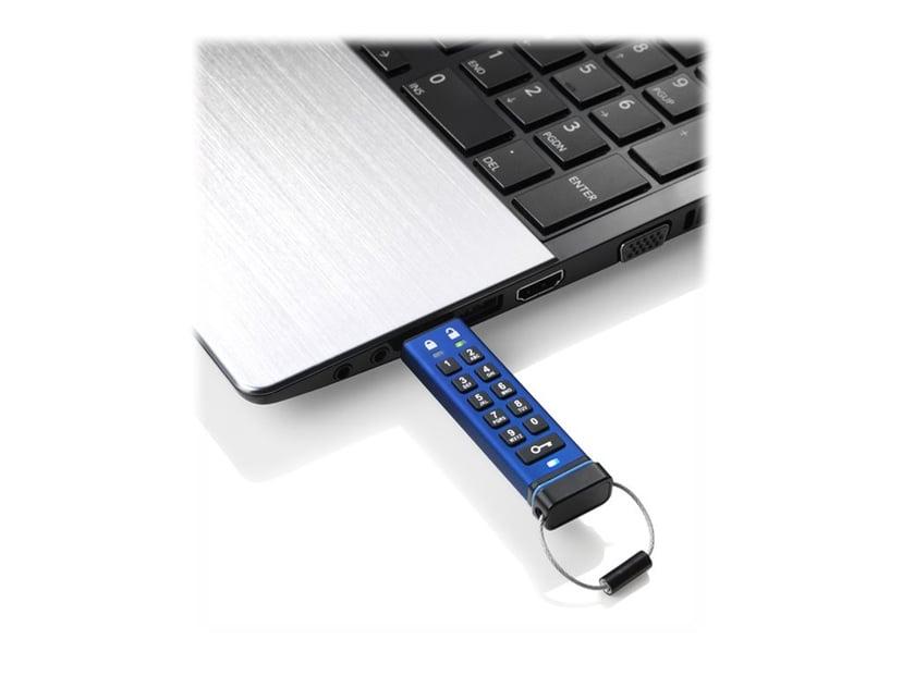 Istorage datAshur Pro 32GB USB 3.0 256-bit AES-XTS; 256-bits SHA; FIPS 197