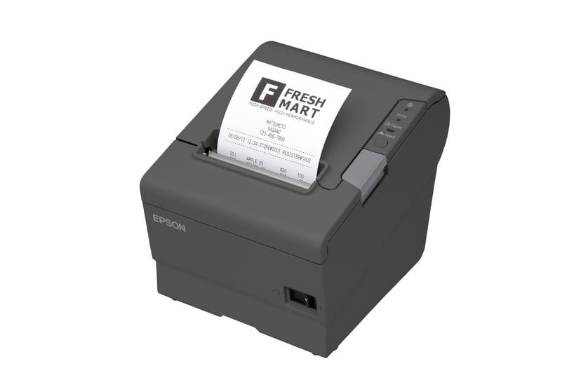 Epson Kvittoskrivare TM-T88V USB/WiFi Incl Power Dark Grå