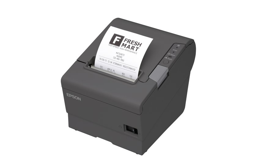 Epson Kvittoskrivare TM-T88V USB/WiFi Inkl AC-Adapter Mörkgrå