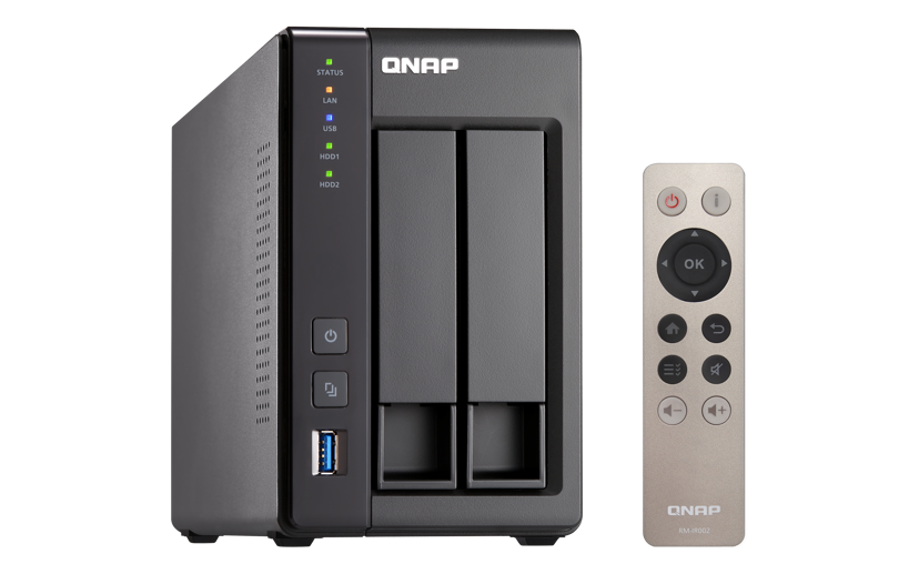 QNAP TS-251+ 8GB 0TB NAS-server