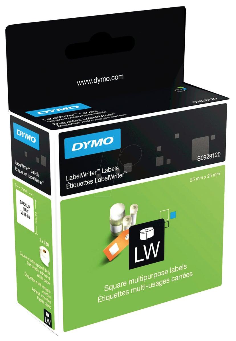 Dymo Etiketter Universal Fyrkantig 25 x 25mm - LW