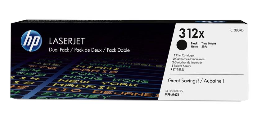 HP Toner Svart 312X 4.4K - CF380XD 2-Pack