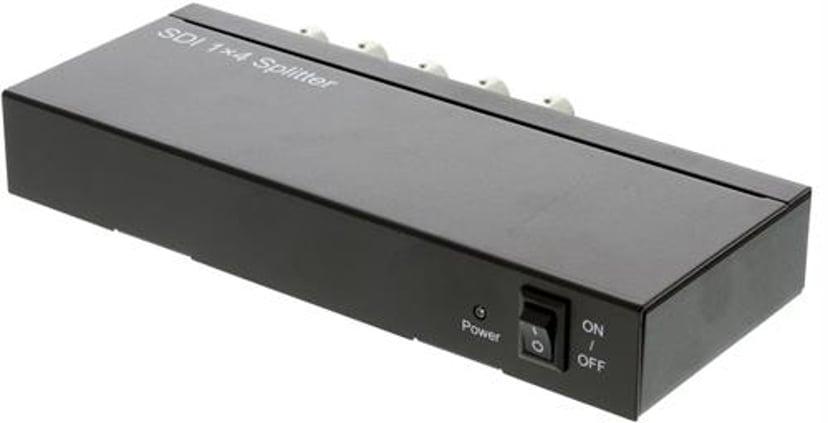 Deltaco Sdi-Splitter 1:4 3G/HD-Sdi 1080P 12 bit BNC Metal