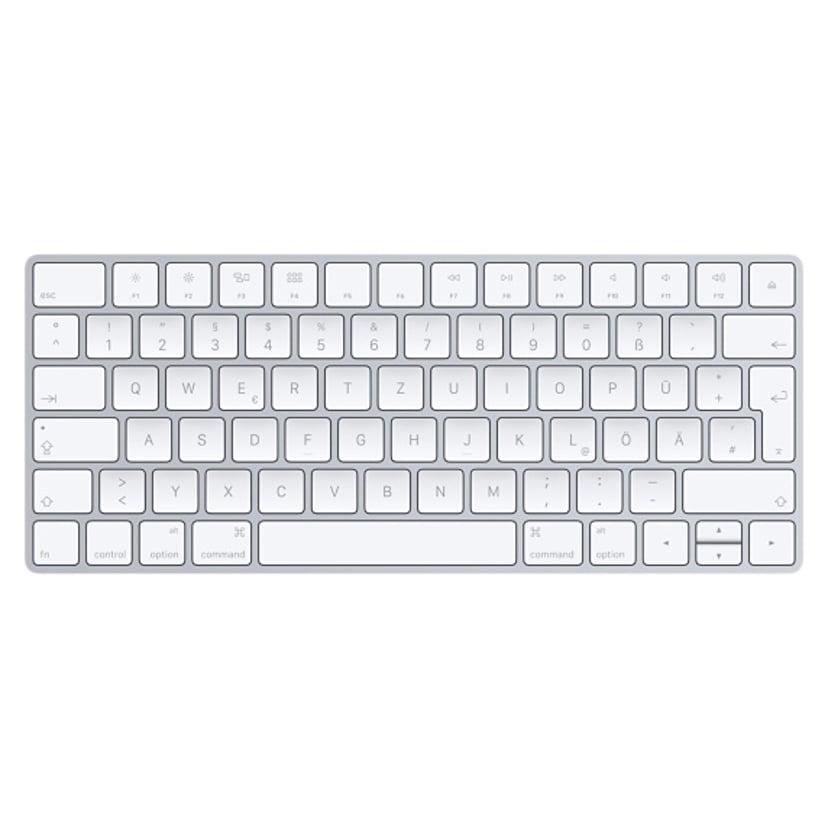 Apple Magic Keyboard - tastatur Trådløs Tastatur Tysk Hvid, Sølv