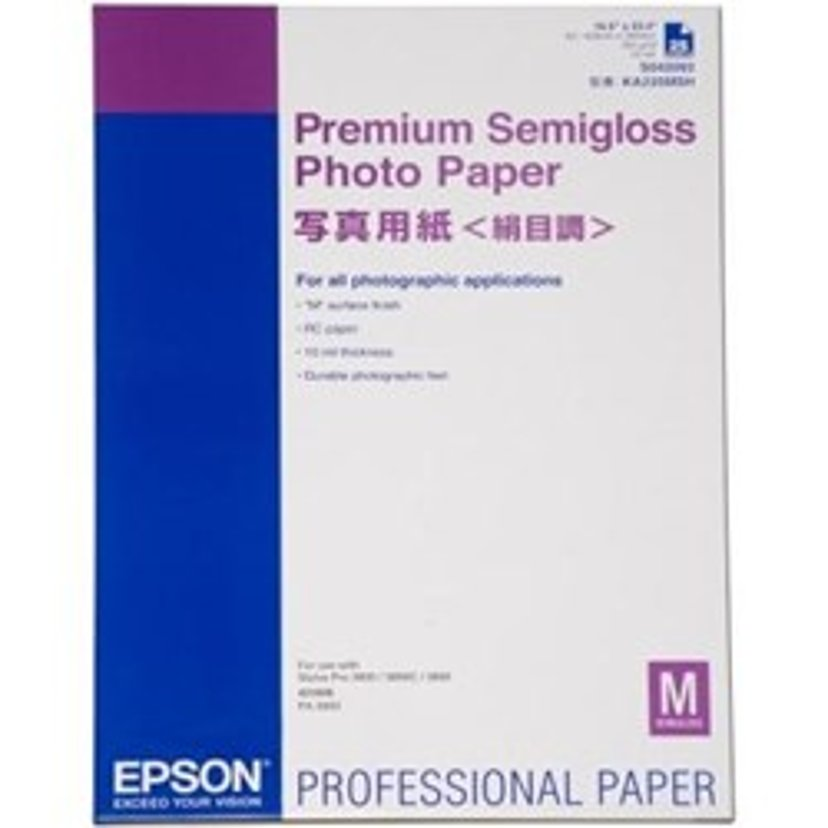 Epson Papir Photo Premium Semi Glossy A2 25-Ark 250g