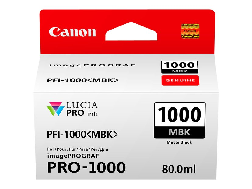 Canon Bläck Matt Svart PFI-1000 MBK - IPF-1000