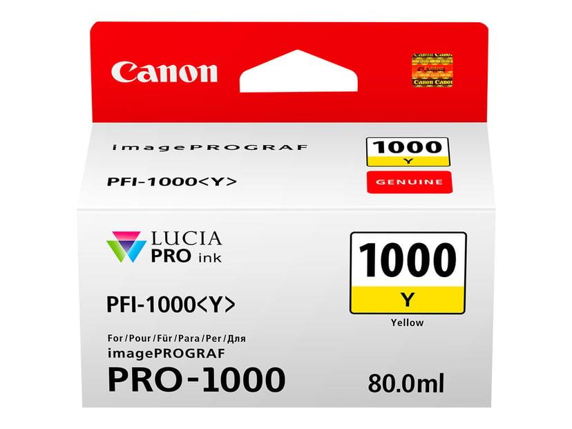 Canon Blekk Gul PFI-1000 Y - IPF-1000
