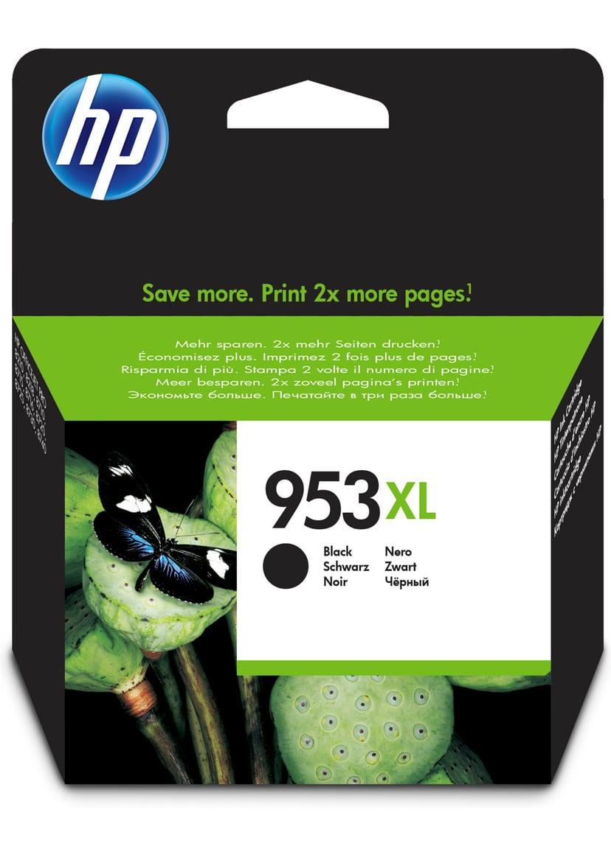 HP Blekk Svart 953XL - OfficeJet Pro 8710/8720/8730/8740