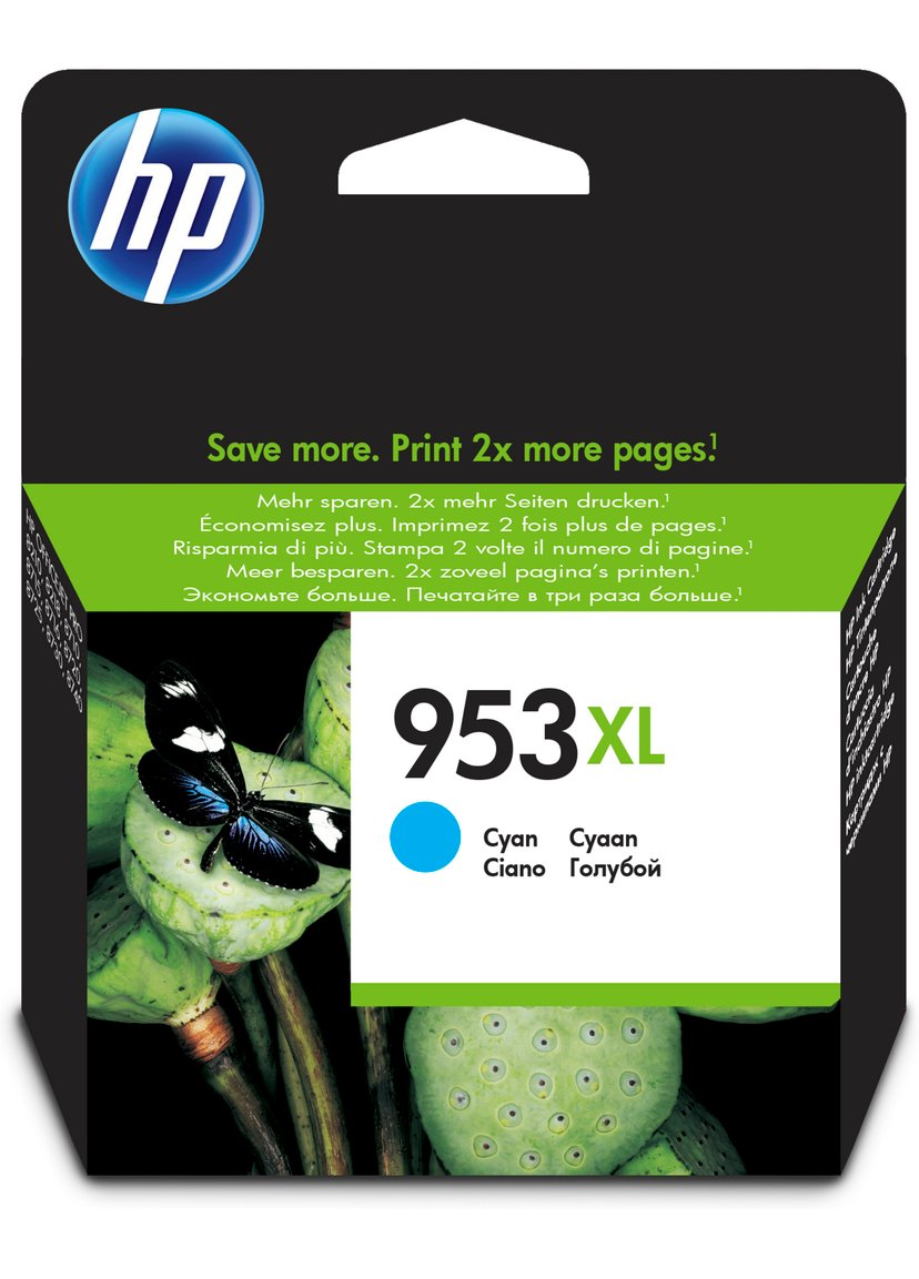 HP Bläck Cyan 953XL - OfficeJet Pro 8710/8720/8730/8740