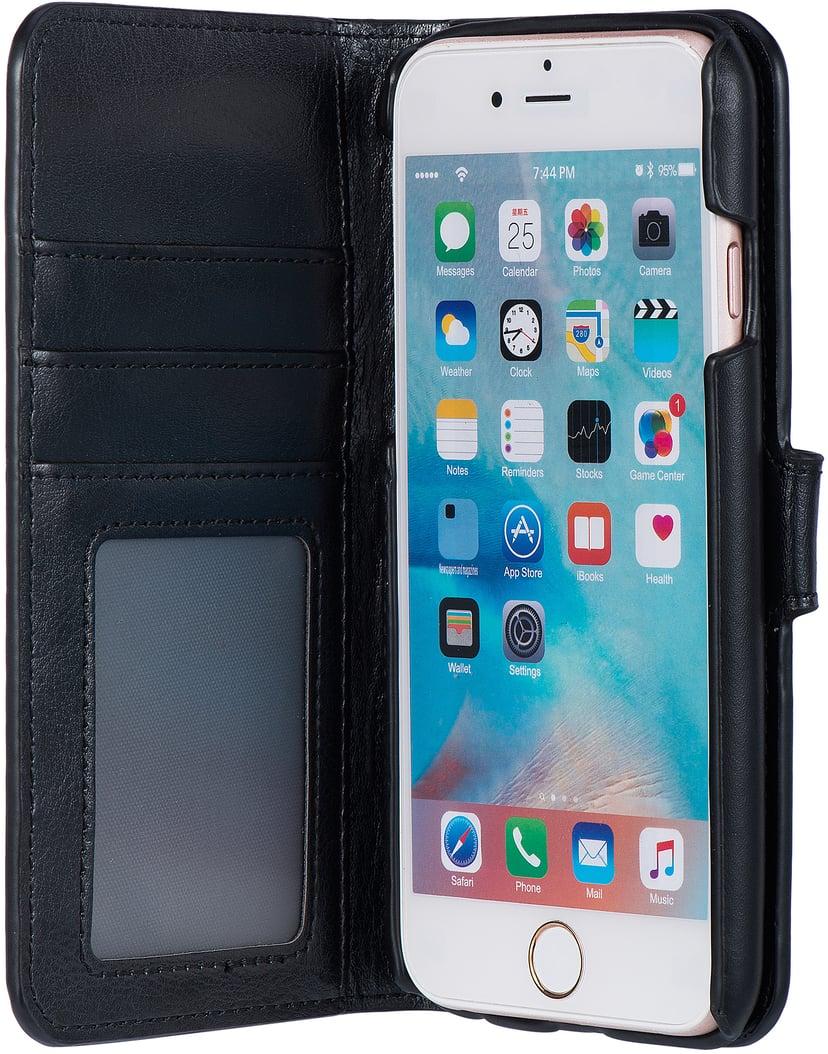 Cirafon Genuine Leather Wallet Magnet iPhone 6/6s Sort