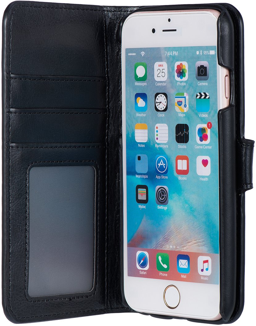 Cirafon Genuine Leather Wallet Magnet iPhone 6/6s Svart