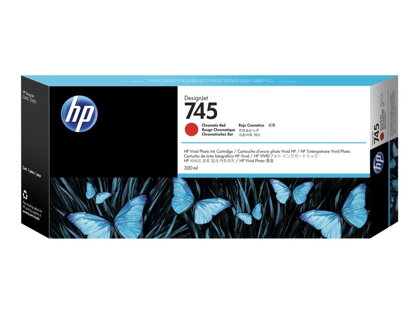 HP Muste Chromatic Punainen No.745 300ml - Z2600/Z5600