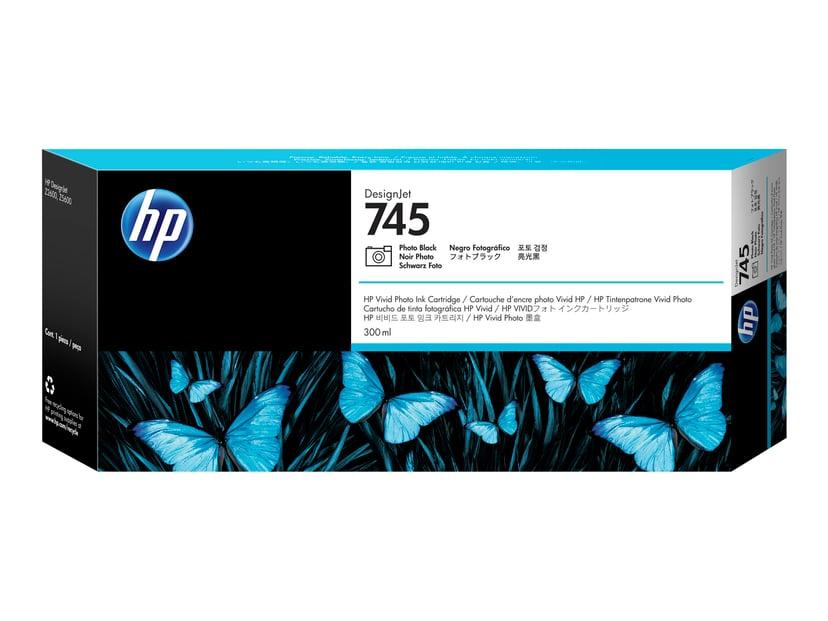 HP Blekk Foto Svart No.745 300ml - Z2600/Z5600