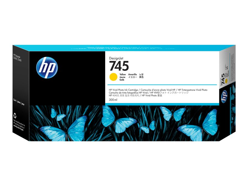 HP Blekk Gul No.745 300ml - Z2600/Z5600