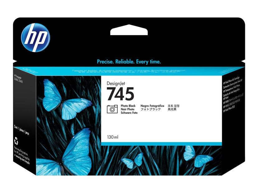 HP Blekk Foto Svart No.745 130ml - Z2600/Z5600