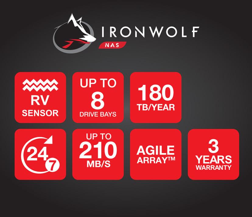 "Seagate IronWolf 2Tt 3.5"" Serial ATA-600"