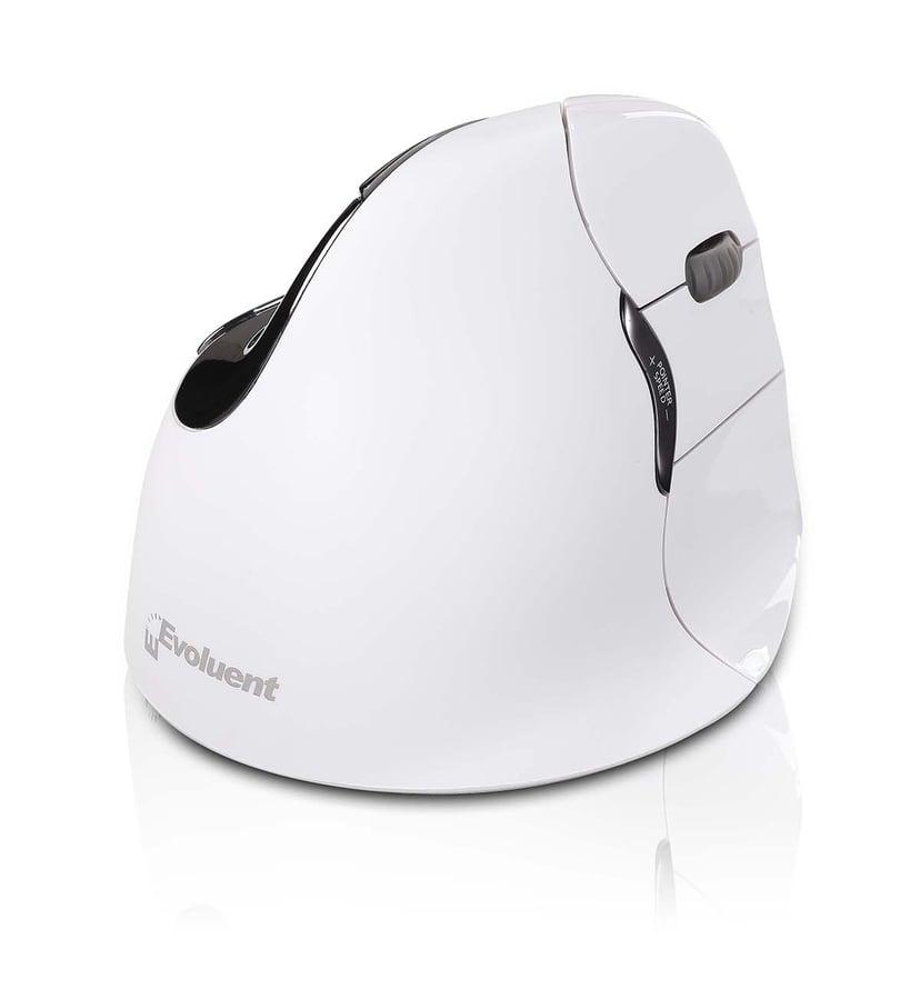 Evoluent Verticalmouse 4 Right Bluetooth Vertikal mus Trådløs Hvit