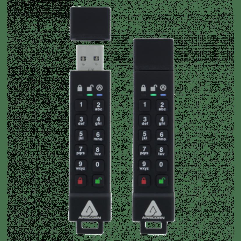 Apricorn Aegis Secure Key 3Z USB 3.0 256-bit AES-XTS, FIPS 140-2 Level 3