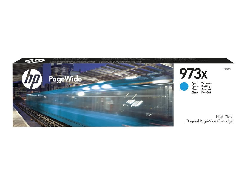 HP Blekk Cyan No.973X 7k - PageWide #Köp