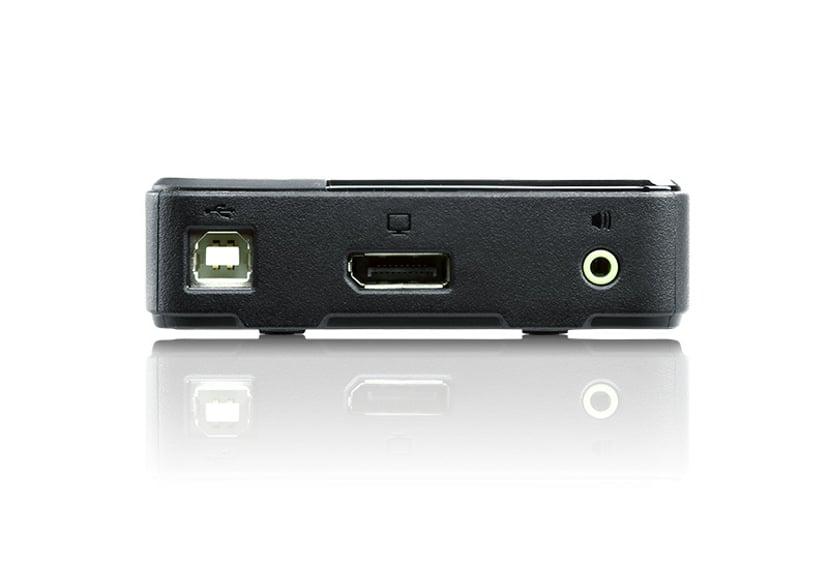 Aten KVM-Switch - 1-2 Displayport - USB - 3,5mm - Uhd -1,8m #Demo