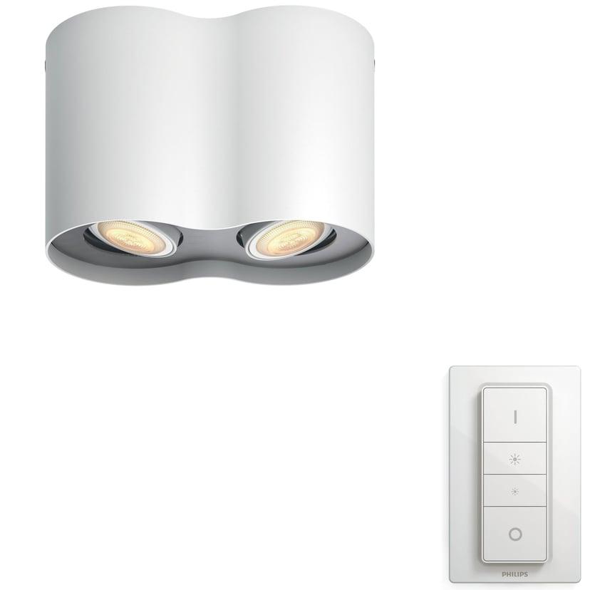 Philips Hue Pillar White Ambiance Dobbel Hvit