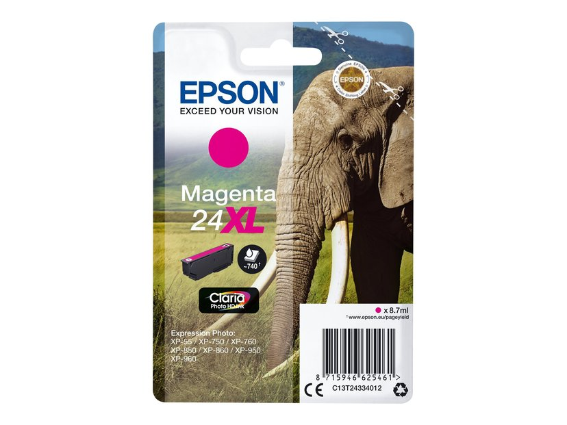 Epson Blekk Magenta 24Xl Blister - Xp-750/Xp-850/Xp-950