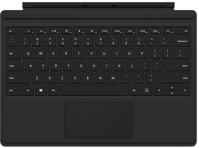 Microsoft Surface Pro Signature Type Cover Black med Fingeravtrycksläsare