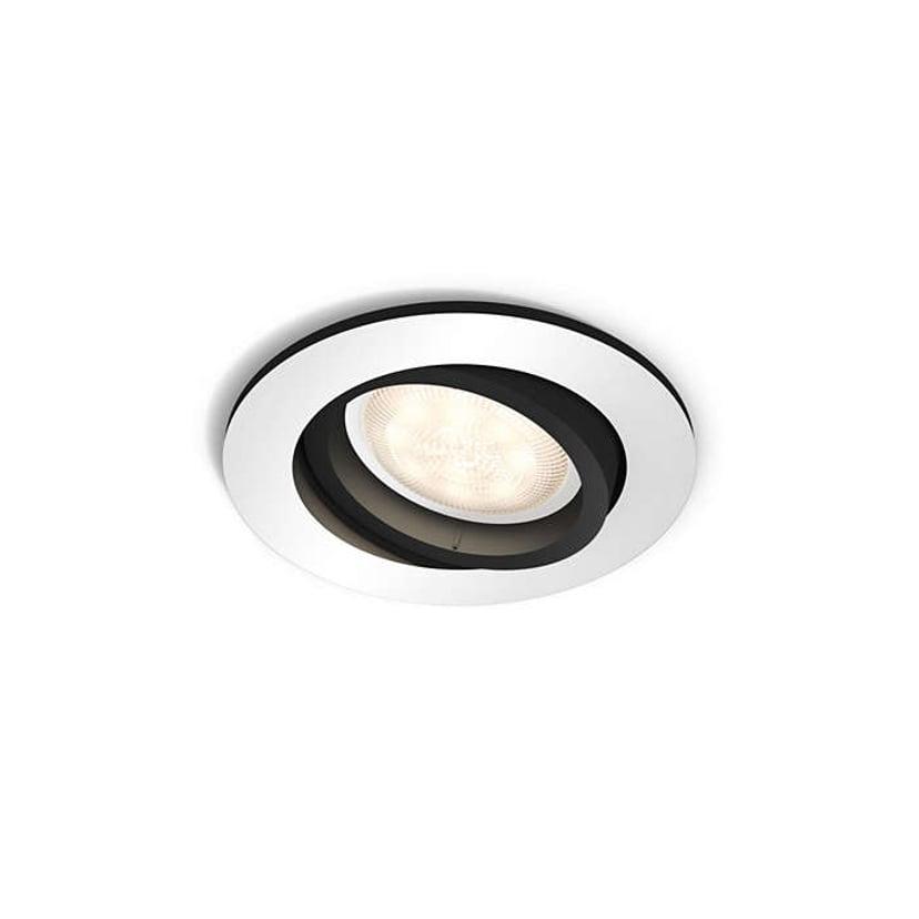 Philips Hue Millskin Spot Rund Sølv/Svart 230V