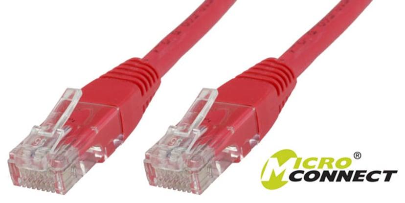 Microconnect Netværkskabel RJ-45 RJ-45 CAT 6 7m Rød