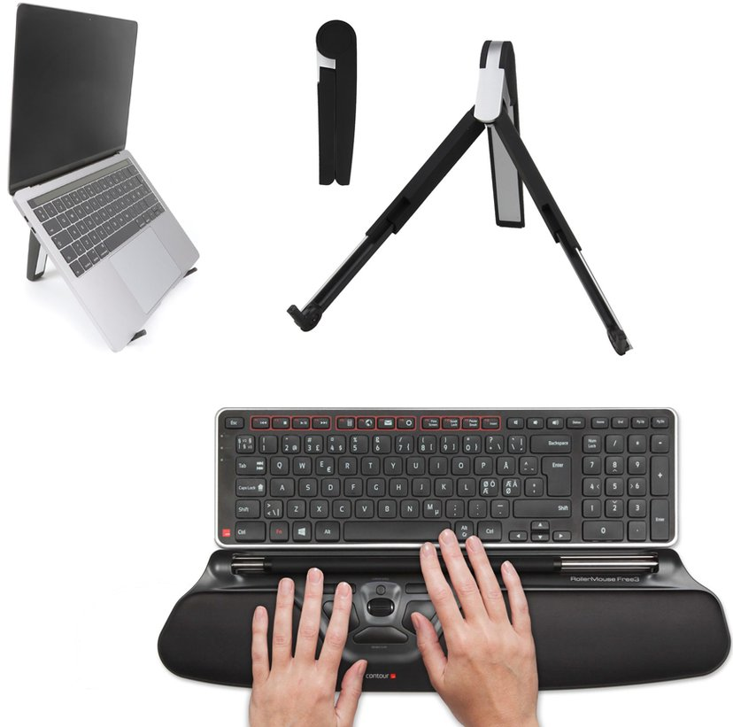 Contour Design Ergonomic Laptop Kit Free3 Wireless