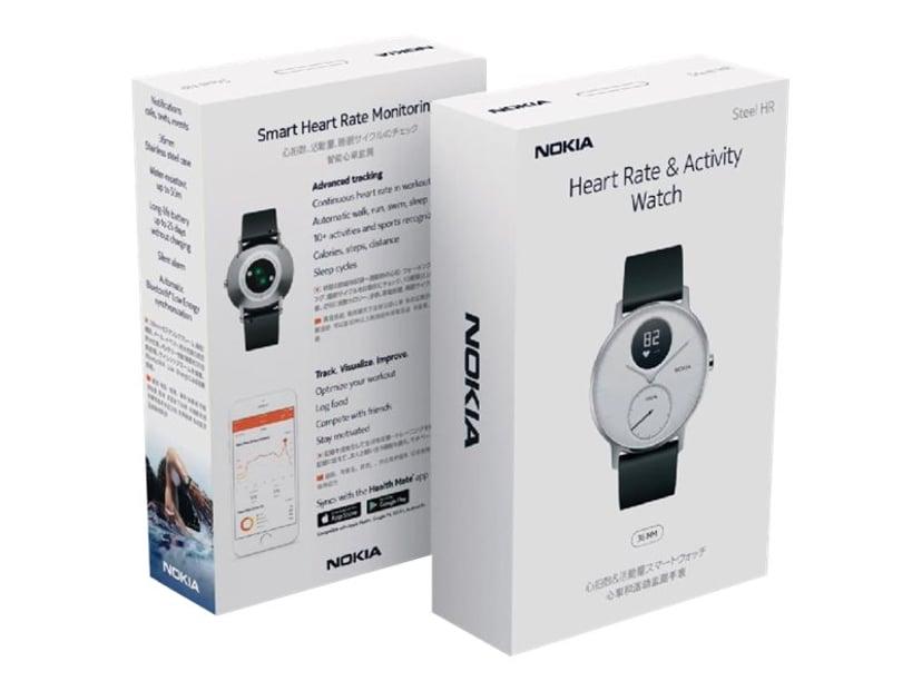 Nokia Steel HR 36mm - White Aktivitetssporer