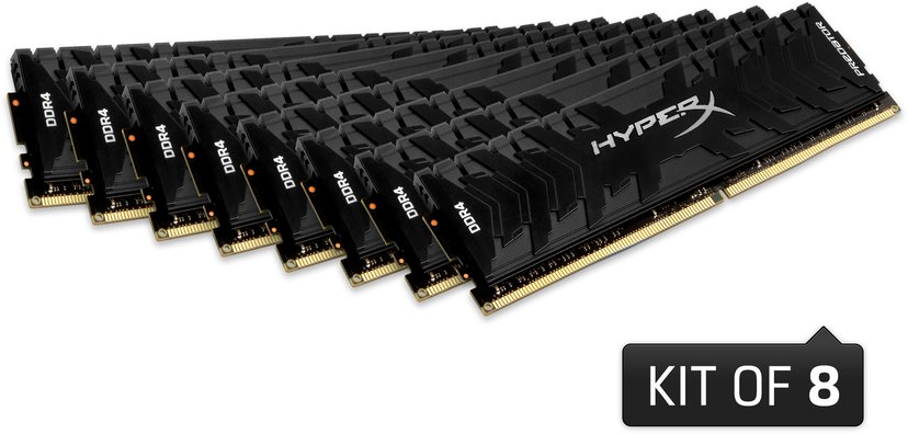 Kingston Hyperx Predator 128GB(8X16) DDR4 3000MHz - Black 128GB 3,000MHz DDR4 SDRAM DIMM 288-pin