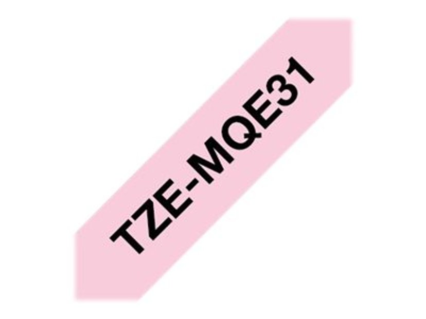 Brother Tape TZe-MQE31 12mm Black/Pink