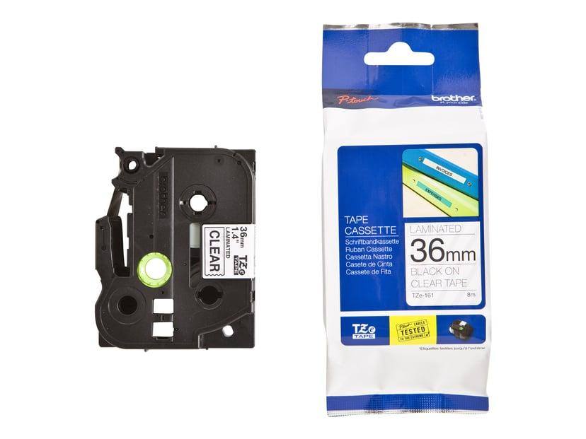 Brother Tape TZE-161 36mm Svart/Transparent