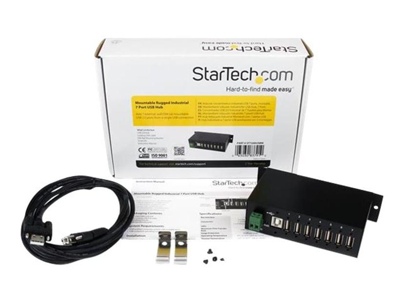 Startech Mountable Rugged Industrial 7 Port USB Hub USB Hubb
