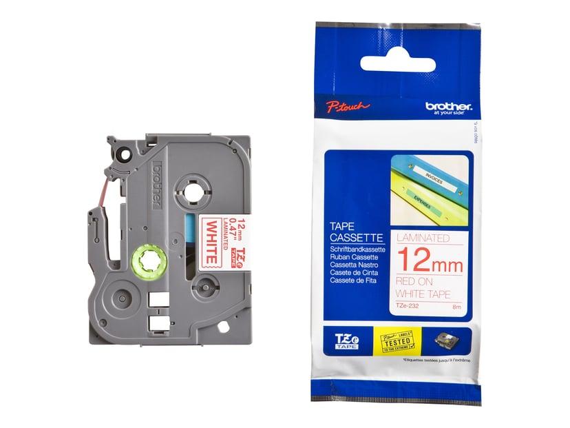Brother Tape TZe-232 12mm Röd/Vit