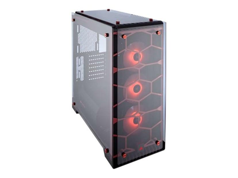Corsair Crystal Series 570X RGB Rød; Transparent