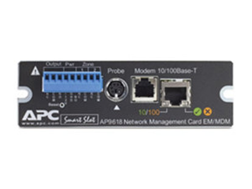 APC Network Management Card with Environmental Monitoring and Out of Band Management